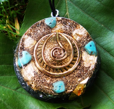 Turquoise orgonite pendants orgonise yourself crystal healing orgone turquoise orgonite pendants aloadofball Choice Image