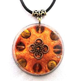 orange-orgonite jewellery