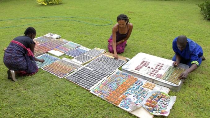 Making orgonite in Zambia
