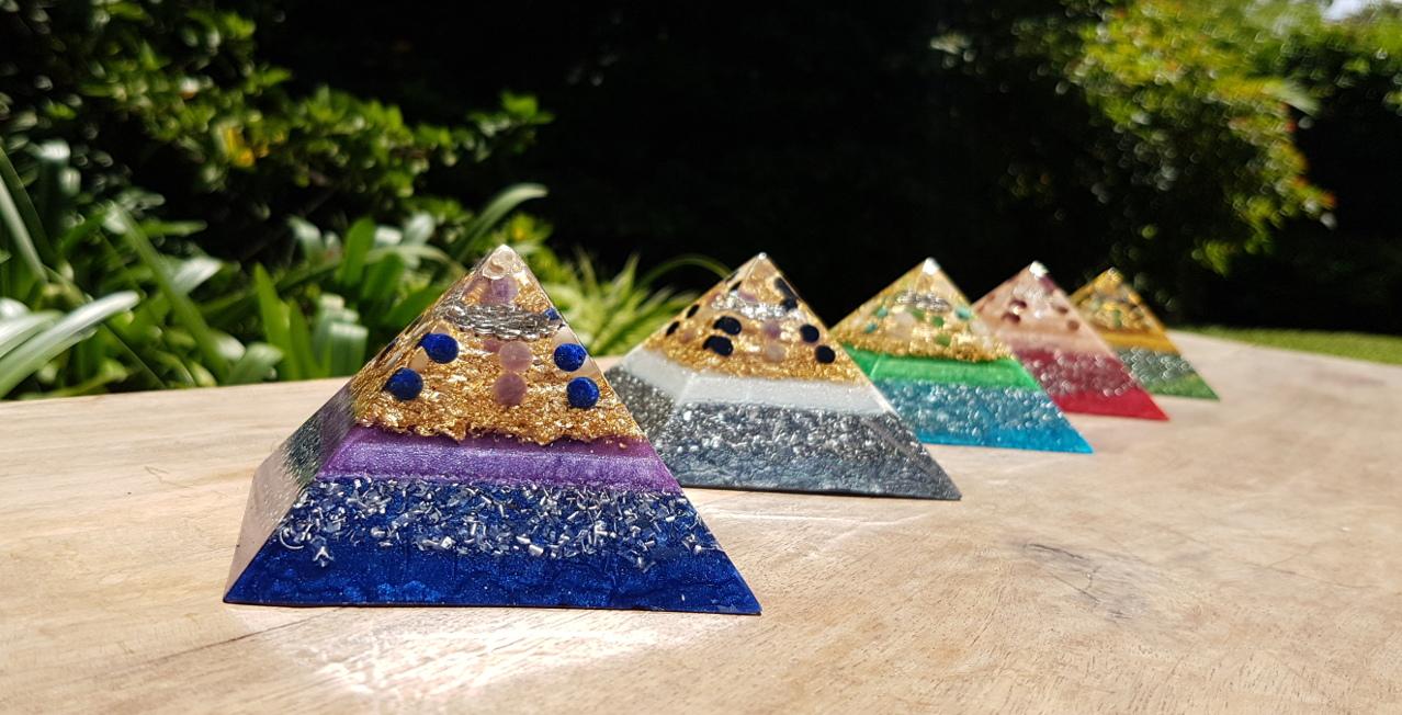 orgonite pyramids