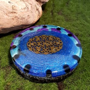 onyx orgonite charging plate