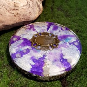 rose quartz orgonite charging plate