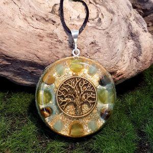 Abundance Orgonite Pendant - large orgonite necklace by Orgonise Yourself