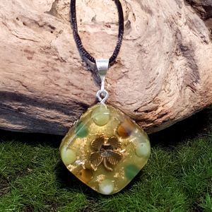 Abundance Orgonite Pendant - small orgonite pendant by Orgonise Yourself