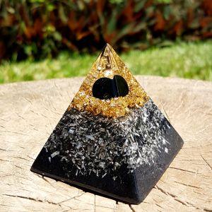 Black tourmaline orgonite pyramid - orgone pyramid generator