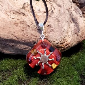 Confidence Orgonite Pendant - small orgonite necklace by Orgonise Yourself