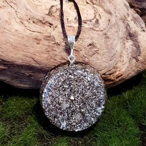 Medium no-frills orgonite pendant - cheap orgonite necklace by orgonise Yourself