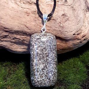 Medium rectangular no-frills orgonite pendant - cheap orgonite necklace 1