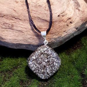Small no-frills orgonite pendant - cheap orgone necklace
