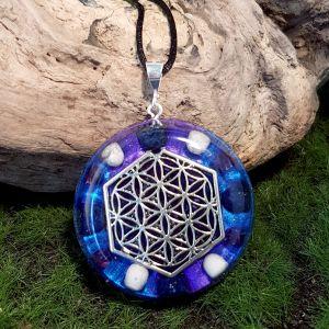 Spiritual Growth Orgonite Pendant - large orgone necklace