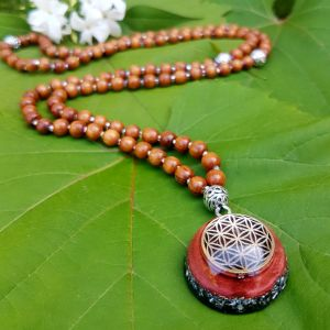 orgonite mala necklace