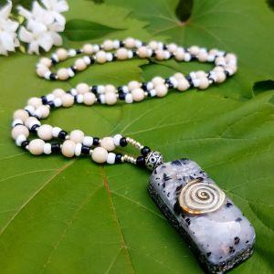 tourmaline orgonite necklace