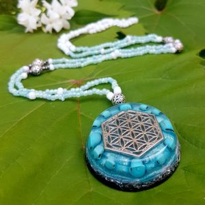 turquoise orgonite necklace