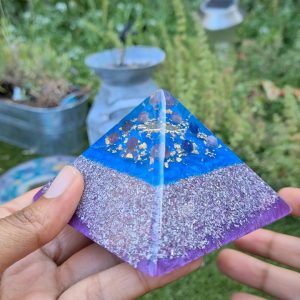 Lapis Lazuli and Amethyst pyramid