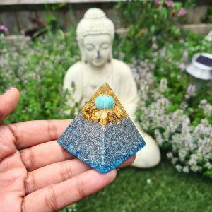 Throat chakra mini pyramid