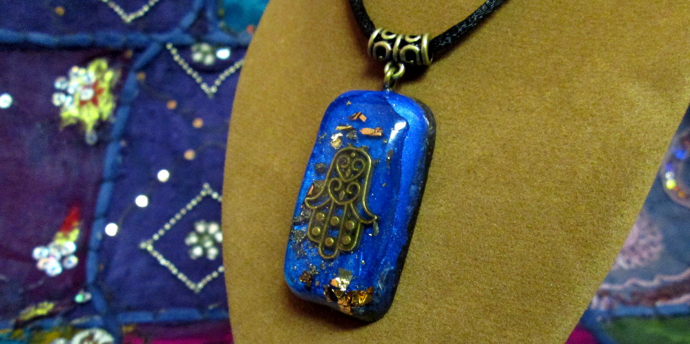 Orgonite Pendant with Gold Flake
